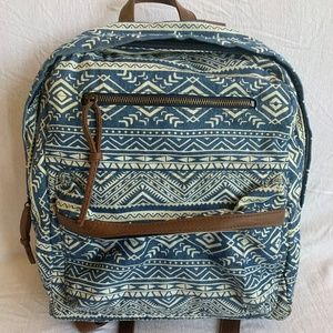 Claire's Blue & White Design Backpack